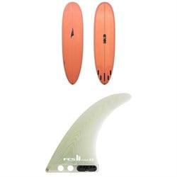 Solid Surf Co EZ Street Surfboard + FCS II Clique PG Longboard Fin