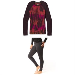 Smartwool Merino 250 Baselayer Pattern Crew ​+ Baselayer Bottoms - Women's