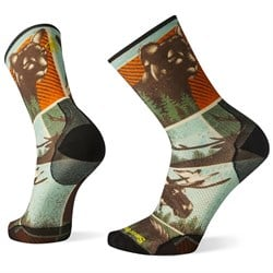 Smartwool PhD Outdoor Ultra Light Big Game Print Crew Socks