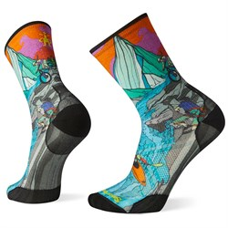 Smartwool PhD Outdoor Ultra Light Adventure On Print Crew Socks