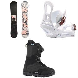 Salomon Wonder X Snowboard  ​+ Burton Stiletto Snowboard Bindings  ​+ Mint Boa Snowboard Boots - Women's 2018