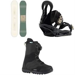 Arbor Poparazzi Camber Snowboard   + Burton Citizen Snowboard Bindings 2019 + Burton Mint Boa Snowboard Boots - Women's 2018