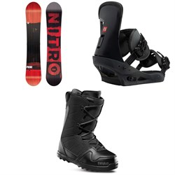 Nitro Prime Screen Snowboard  ​+ Burton Freestyle Snowboard Bindings 2019 ​+ thirtytwo Exit Snowboard Boots