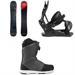Nidecker Merc Snowboard + Flow Nexus Snowboard Bindings + Nidecker Ranger Boa Snowboard Boots 2021