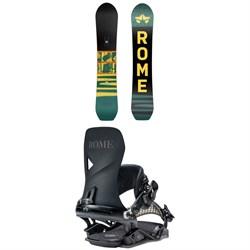 Rome Stale Crewzer Snowboard + Vice Snowboard Bindings 2021