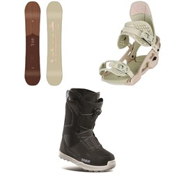 Arbor Ethos Snowboard ​+ Acacia Snowboard Bindings ​+ thirtytwo Shifty Boa Snowboard Boots - Women's 2021