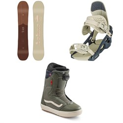 Arbor Ethos Snowboard + Acacia Snowboard Bindings + Vans Encore OG Snowboard Boots - Women's 2021
