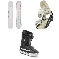 Arbor Poparazzi Camber Snowboard ​+ Arbor Acacia Snowboard Bindings ​+ Vans Encore OG Snowboard Boots - Women's 2021