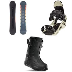 Arbor Formula Rocker Snowboard ​+ Arbor Spruce Snowboard Bindings ​+ thirtytwo STW Double Boa Snowboard Boots 2021