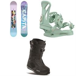 CAPiTA Paradise Snowboard + Union Juliet Snowboard Bindings + thirtytwo STW Double Boa Snowboard Boots - Women's 2021