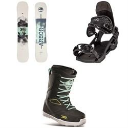 Arbor Draft Camber Snowboard + Arbor Spruce Snowboard Bindings + thirtytwo Light JP Snowboard Boots 2021