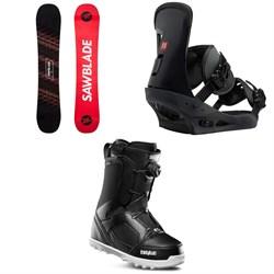 Rossignol Sawblade Snowboard  + Burton Freestyle Snowboard Bindings 2019 + thirtytwo STW Boa Snowboard Boots