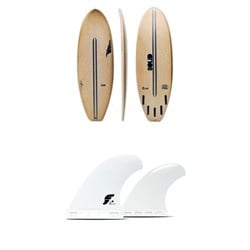 Solid Surf Co Lunch Break Surfboard ​+ Futures V2Q1 Medium Thermotech Quad Fin Set