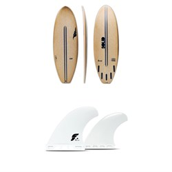 Solid Surf Co Lunch Break Surfboard + Futures V2Q1 Medium Thermotech Quad Fin Set