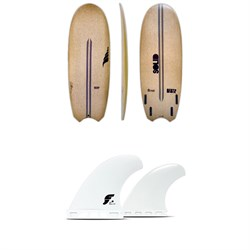 Solid Surf Co Bento Box Surfboard ​+ Futures V2Q1 Medium Thermotech Quad Fin Set