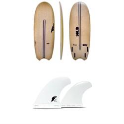 Solid Surf Co Bento Box Surfboard + Futures V2Q1 Medium Thermotech Quad Fin Set