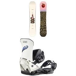 Salomon Gypsy Pro Snowboard + District Snowboard Bindings - Women's 2021
