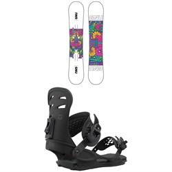 GNU Asym B-Nice BTX Snowboard + Union Rosa Snowboard Bindings - Women's 2021