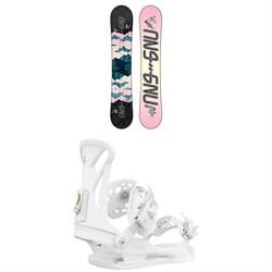 GNU Asym Velvet C2 Snowboard + Union Juliet Snowboard Bindings - Women's 2021