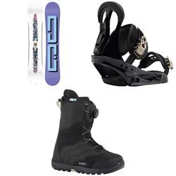 DC Biddy Snowboard  + Burton Citizen Snowboard Bindings 2019 + Mint Boa Snowboard Boots - Women's 2018