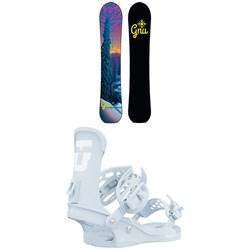 GNU Klassy C2X Snowboard + Union Trilogy Snowboard Bindings - Women's 2021