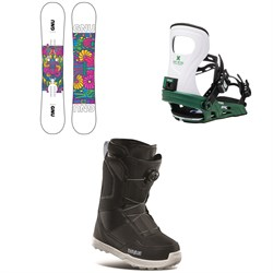 GNU Asym B-Nice BTX Snowboard + Bent Metal Metta Snowboard Bindings + thirtytwo Shifty Boa Snowboard Boots - Women's 2021