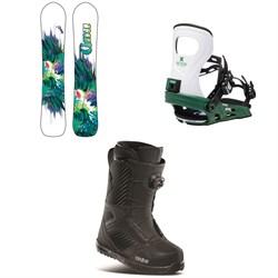 GNU Chromatic BTX Snowboard + Bent Metal Metta Snowboard Bindings + thirtytwo STW Boa Snowboard Boots - Women's 2021