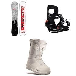GNU Gloss C2 Snowboard + Bent Metal Metta Snowboard Bindings + thirtytwo Shifty Boa Snowboard Boots - Women's 2021