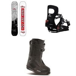 GNU Gloss C2 Snowboard + Bent Metal Metta Snowboard Bindings + thirtytwo STW Boa Snowboard Boots - Women's 2021