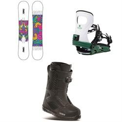 GNU Asym B-Nice BTX Snowboard + Bent Metal Metta Snowboard Bindings + thirtytwo STW Boa Snowboard Boots - Women's 2021