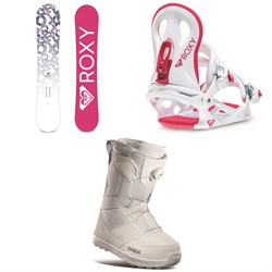 Roxy Glow Snowboard + Roxy Glow Snowboard Bindings + thirtytwo Shifty Boa Snowboard Boots - Women's 2021