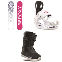 Roxy Glow Snowboard ​+ Rock-It Dash Snowboard Bindings ​+ thirtytwo Shifty Boa Snowboard Boots - Women's 2021