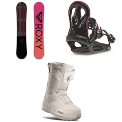 Roxy Wahine Snowboard + Wahine Snowboard Bindings + thirtytwo Shifty Boa Snowboard Boots - Women's 2021