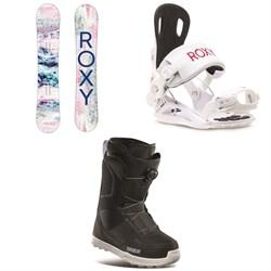 Roxy Sugar Banana Snowboard + Rock-It Dash Snowboard Bindings + thirtytwo Shifty Boa Snowboard Boots - Women's 2021