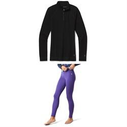 Smartwool Merino 250 Baselayer 1/4 Zip Top + Bottoms - Women's
