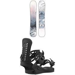 GNU Whip C3 Snowboard + Union Trilogy Snowboard Bindings - Women's 2021