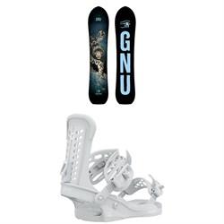 GNU Free Spirit C3 Snowboard + Union Trilogy Snowboard Bindings - Women's 2021