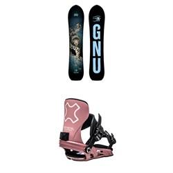 GNU Free Spirit C3 Snowboard + Bent Metal Stylist Snowboard Bindings - Women's 2021
