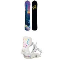 GNU Klassy C2X Snowboard + Bent Metal Stylist Snowboard Bindings - Women's 2021