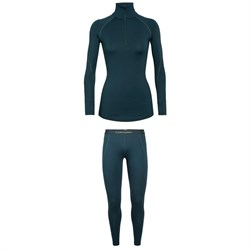 Icebreaker 260 Zone Long Sleeve Half Zip Top + Leggings - Women's