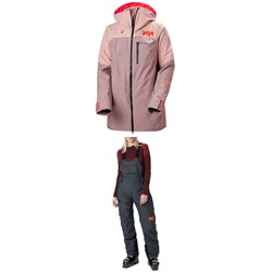 Helly Hansen Whitewall LifaLoft™ Jacket ​+ Powderqueen Bib Pants - Women's