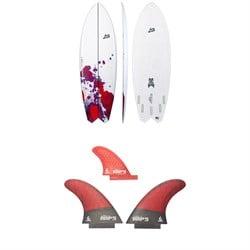 Lib Tech x Lost Hydra Surfboard + Twin + Trailer Fin Set