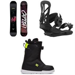 CAPiTA Horrorscope Snowboard + Union Flite Pro Snowboard Bindings + DC Scout Boa Snowboard Boots 2021