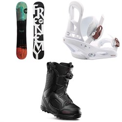 Rossignol Frenemy Snowboard + Burton Stiletto Snowboard Bindings + thirtytwo STW Boa Snowboard Boots - Women's