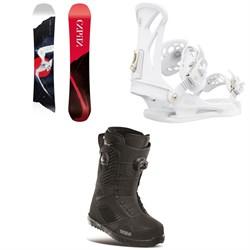 CAPiTA Birds of a Feather Snowboard  + Union Juliet Snowboard Bindings + thirtytwo STW Double Boa Snowboard Boots - Women's 2021