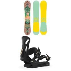 Yes. Emoticon Snowboard + Union Juliet Snowboard Bindings - Women's