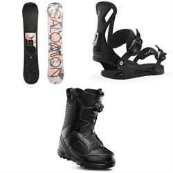 Salomon Wonder X Snowboard + Union Juliet Snowboard Bindings + thirtytwo STW Boa Snowboard Boots - Women's