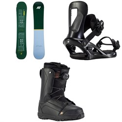 K2 Cold Shoulder Snowboard ​+ Bedford Snowboard Bindings ​+ Haven Snowboard Boots - Women's 2021