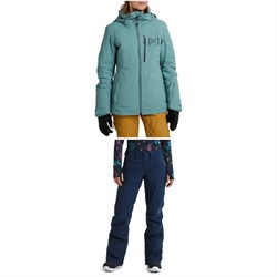 Burton AK GORE-TEX Flare Down Jacket ​+ AK 2L GORE-TEX Summit Insulated Pants - Women's