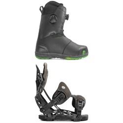 Nidecker Helios Focus Boa Snowboard Boots + Flow NX2-GT Fusion Snowboard Bindings